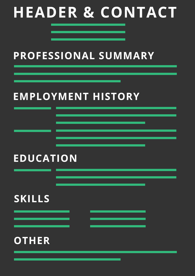Structure of a curriculum vitae
